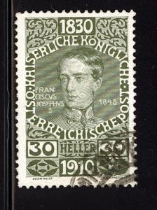 Austria 1910  Scott #137 used (CV 12.00)