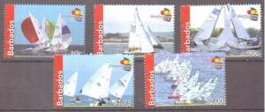 BARBADOS SG1349/53 2010  FIREBALL SAILING MNH