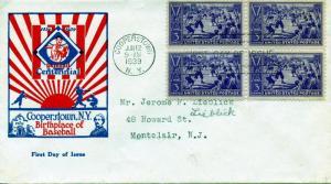 U.S. Scott 855 Baseball Centennial FDC w/Cachet