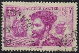 France - 1934 - Scott #296 - used - Jacques Cartier Canada
