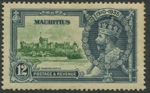 Mauritius - Scott 205 - Silver Jubilee -1935 - MH -Single 12c Stamp