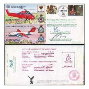 JS(CC)2c The Queens Flight Last Royal Task Signed by J.A King J.R.D Morley (A)