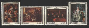 Paraguay. 1967. 1747-52 from the series. Painting, paintings. MNH.
