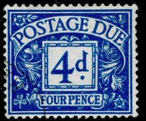 SGD38, 4d blue, FINE USED. Cat £22. WMK GVIR.