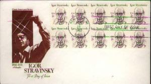 United States, First Day Cover, Music, New York