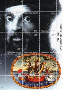 Mali 1998 Ships-Ferdinand Magellan 1480-1521 Explorers Sheetlet Composite MNH