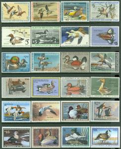 USA : 1971-2003. Choice group of 30 diff. between Scott #RW30-70 VF-XF Face $293