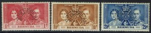 BERMUDA 1937 KGVI CORONATION SPECIMEN SET
