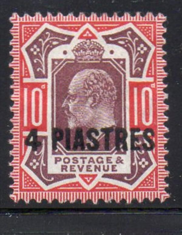 Great Britain Turkish Empire Sc 10 1902 4 piastres on 10d E VII stamp mint