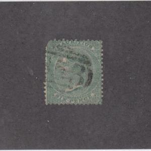 MAURITIUS (MK1003) # 10 F-USED  6d  1862 QUEEN VICTORIA / # CANCEL CAT VAL $175