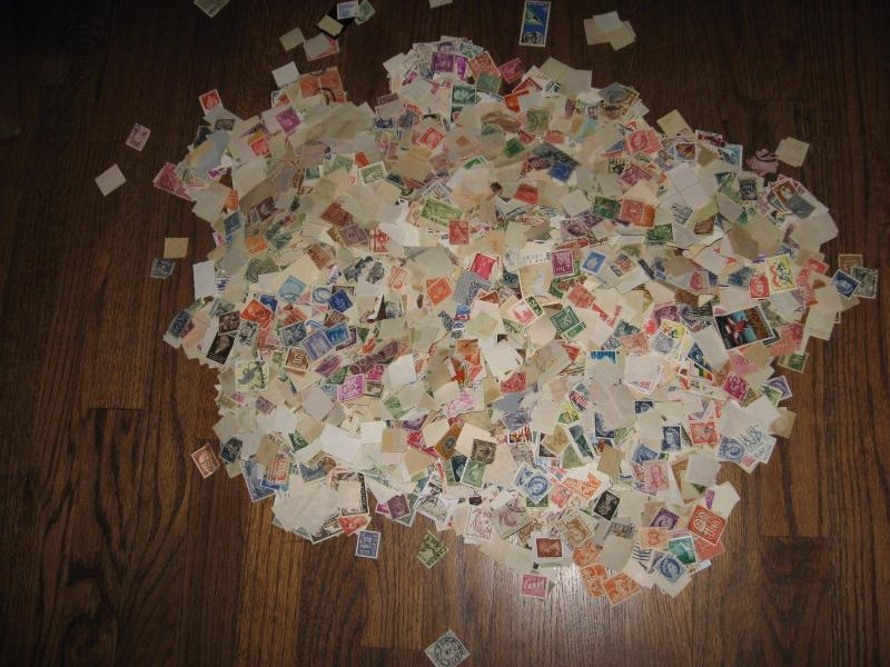 WORLDWIDE STAMPS 1 LB off paper MISSION MIX 705 0117