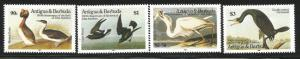 ANTIGUA & BARBUDA 845-848 MINT HINGED AUDUBON SET BIRDS