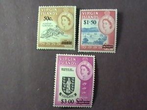 BRITISH VIRGIN ISLANDS # 173-175-MINT/NEVER HINGED-COMPLETE SET--QEII--1966
