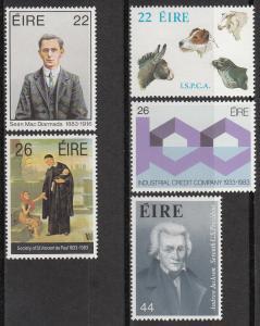 Ireland 568-572 MNH CV $4.45