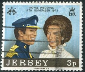 Jersey Sc#89 Princess Anne & Mark Philips Used F-VF (Je)
