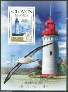 SOLOMON ISLANDS  2013  AUSTRALIAN  LIGHTHOUSES SOUVENIR SHEET  MINT NH