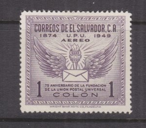 EL SALVADOR, 1949 UPU 1col. Violet, lhm.