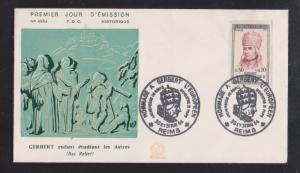 1964 Gerbert  Homage - Color Cachet Unaddressed FDC