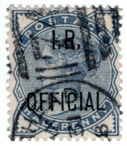 (I.B) QV Postal : IR Official ½d (SG O5)