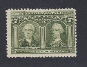 Canada 1908  Quebec Stamp #100-7c MHR Fine+ Guide Value= $80.00
