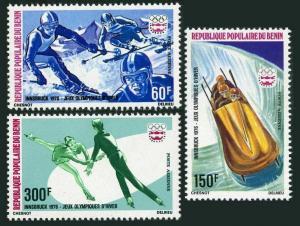 Benin C244-246,MNH.Michel 46-48. Olympics Innsbruck-1976.Slalom,Bobsledding,
