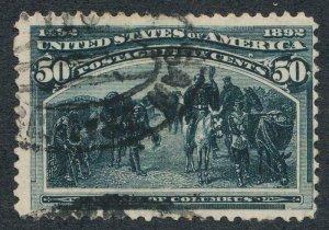 UNITED STATES 240 USED FINE 50c COLUMBIAN, TINIEST THIN