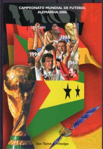 Sao Tome and Principe 2006 World Cup Germany 2006 S/S IMPERFORATED  MNH