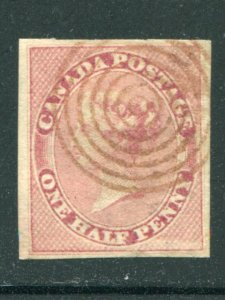 Canada #8  Used full margins  - Lakeshore Philatelics