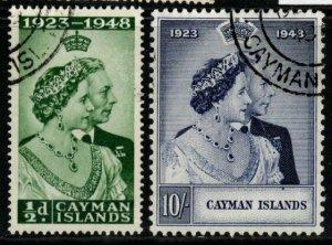 CAYMAN ISLANDS SG129/30 1948 SILVER WEDDING FINE USED