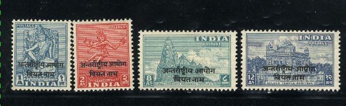 India-Viet Nam #2-5   Mint NH VF 1954 PD