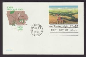 US UX123 Iowa Territory Artmaster U/A FDC
