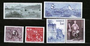 J23052 JLstamps 1978 sweden set mnh #1242-7 designs