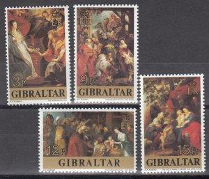 Gibraltar MNH 359-62 Rubens Paintings 1977