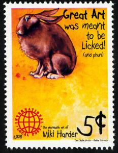 Phuntastic Art of Miki Harder (#1) Intl. Local Post Stamp