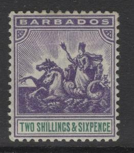 BARBADOS SG115 1903 2/6 VIOLET & GREEN MTD MINT