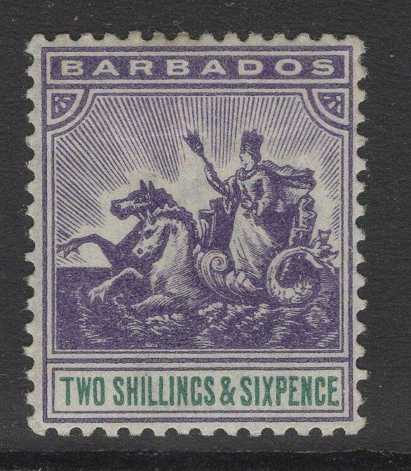 BARBADOS SG115 1903 2/6 VIOLET & GREEN MTD MINT