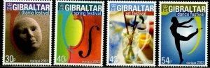 GIBRALTAR Sc#928-931 2003 Europa Festivals Complete Set OG Mint Hinged