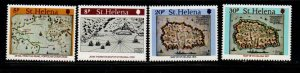 St Helena Sc 348-51 1981 Maps stamp set mint NH