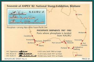 Nauru 1982 Anpex Phosphate Shipments MS, MNH 256,SGMS271