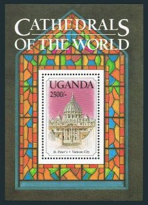 Uganda 1163A,MNH.Michel Bl.. St Peter's Cathedral,Vatican City,1993.