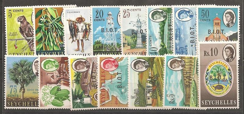 British Indian Ocean Territory SC 1-15 MNH