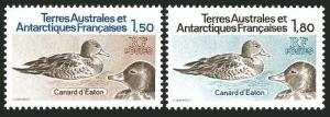 FSAT 101-102,MNH.Michel 172-173. Birds 1983.Eatons Ducks.