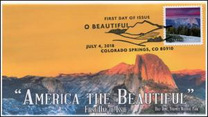 18-179, 2018, O' Beautiful, First Day Cover, Pictorial Postmark, Half Dome, Yose
