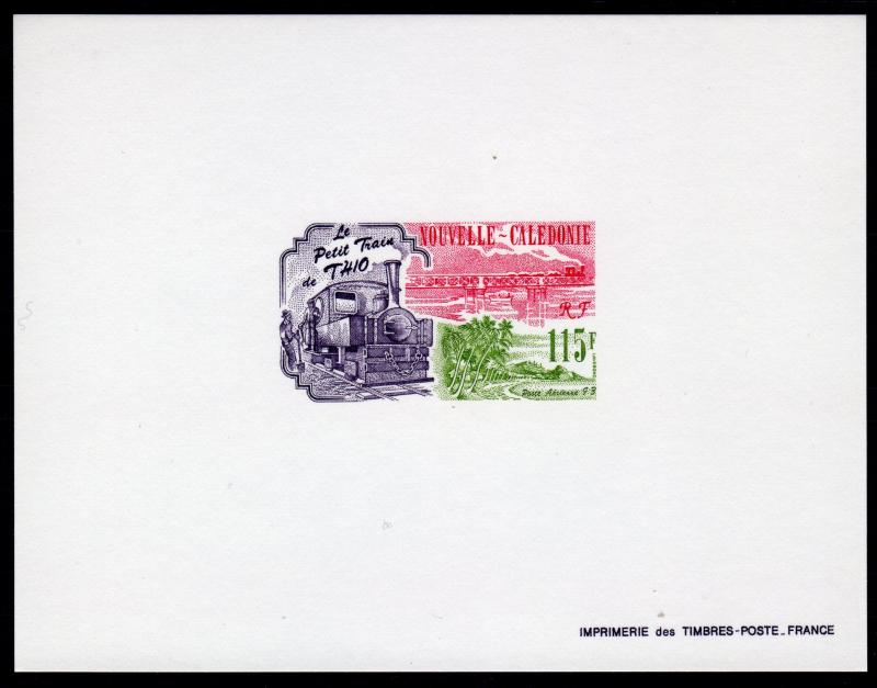 New Caledonia 1993 Sc#C247 TRAIN OF THIO Deluxe Souvenir Sheet Imperforated MNH