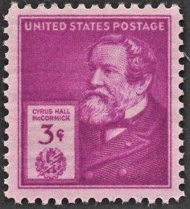 US 891 MNH VF 3 Cent Cyrus Hall McCormick American Inventor
