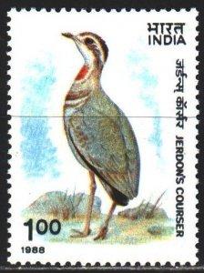 India. 1988. 1183. Birds, fauna. MNH.