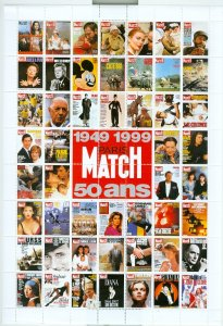 PARIS MATCH LABELS ...FULL SHEET...1999 50th ANNIVERSARY