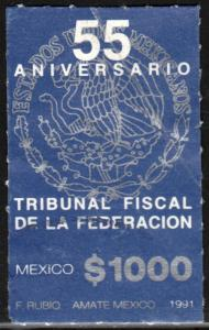 MEXICO 1703, FEDERAL TAX COURT ANNIVERSARY. USED. F-VF. (1364)