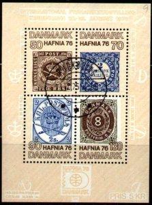 HAFNIA 76 Intl. Stamp Exhib., Copenhagen, 1976, Denmark S/S SC#585 used