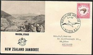 NEW ZEALAND 1962 cover SCOUT JAMBOREE WAIORA pictorial cds.................73824